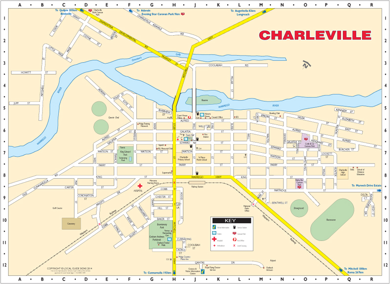 Comhome Map Design : Charleville Australia Map