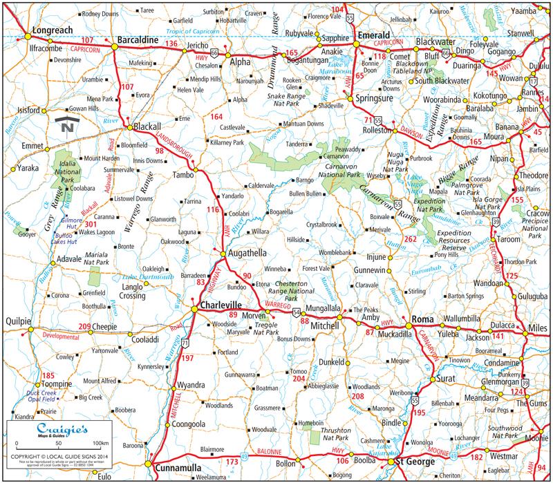 Charleville  Murweh Shire  Queensland  Maps  Street