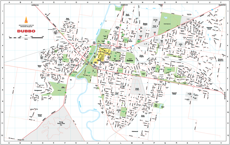 Dubbo Western NSW Maps Street Directories Places to Visit