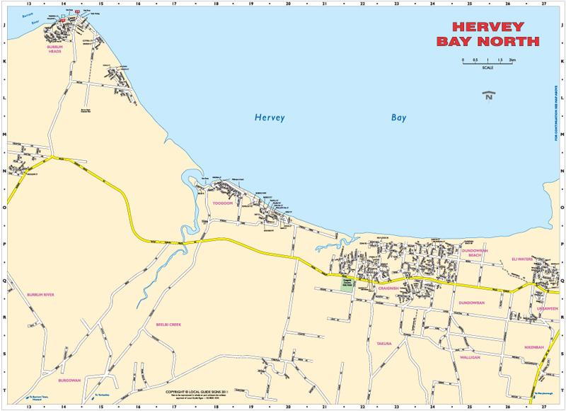 Hervey Bay Map Hervey Bay   Fraser Coast   Queensland   Maps   Street Directories