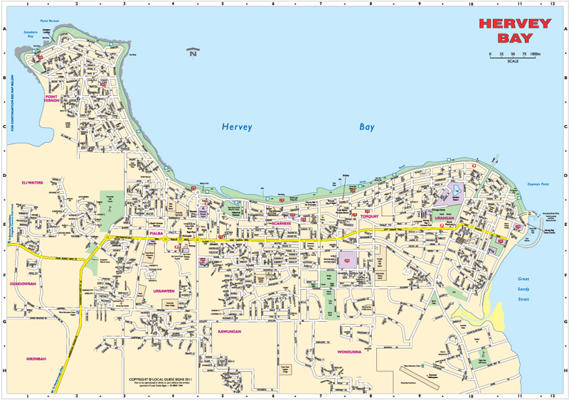 Hervey Bay Australia  city photo : Hervey Bay Map Image