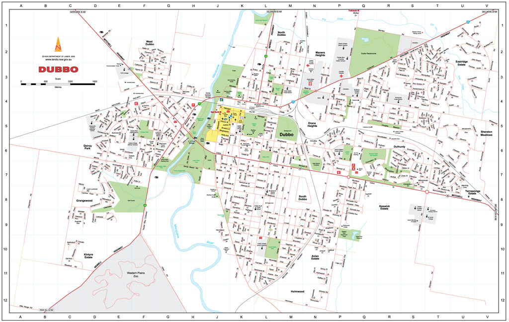 Dubbo NSW Central West Maps Street Directories Places to
