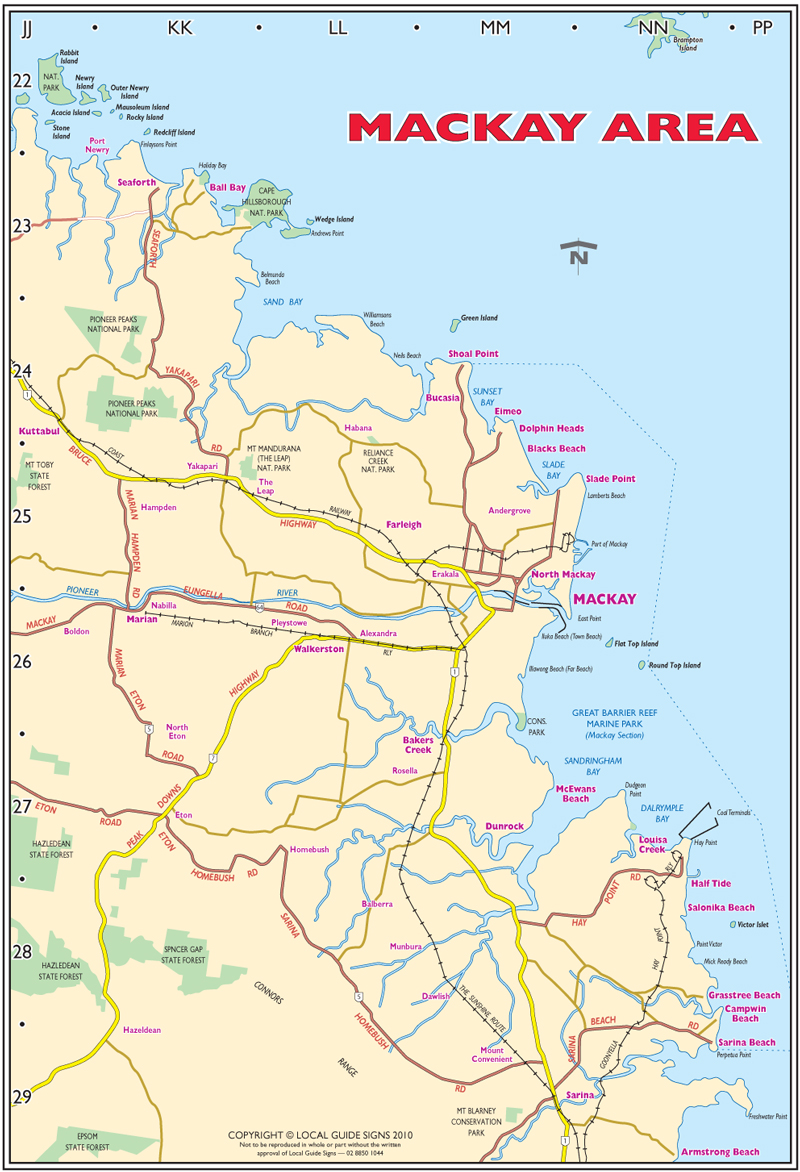 Mackay - Whitsunday - Queensland - Maps - Street Directories - Places ...