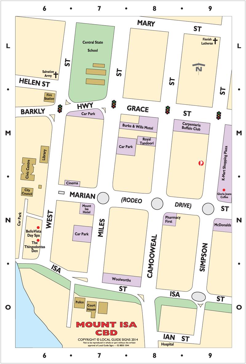 Mt Isa Map Mount Isa   North West Queensland   Maps   Street Directories