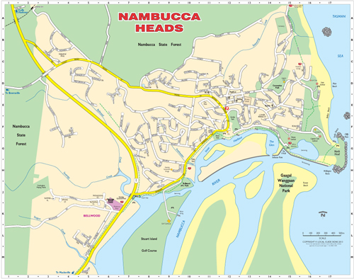 Nambucca Heads Australia  city pictures gallery : Nambucca Heads Australia Map