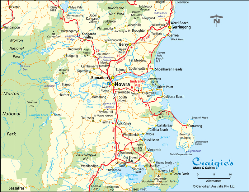 Nowra Shoalhaven NSW South Coast Maps Street Directories