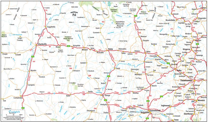 Roma  Maranoa Shire  Queensland  Maps  Street Directories