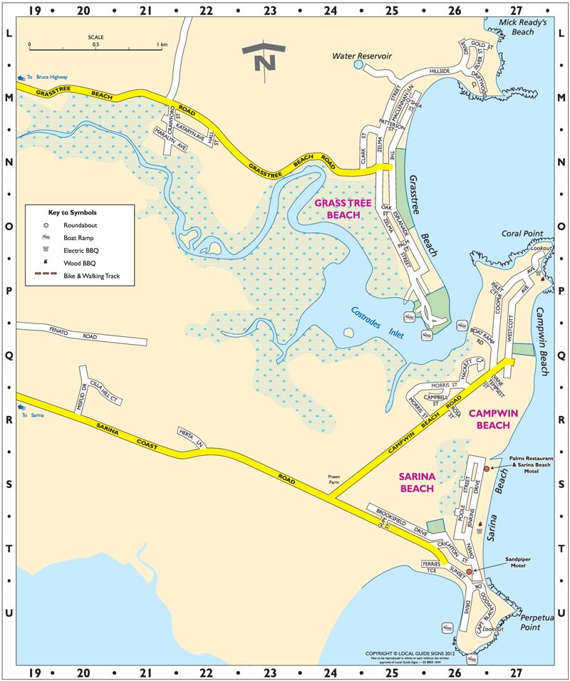 Sarina District Map
