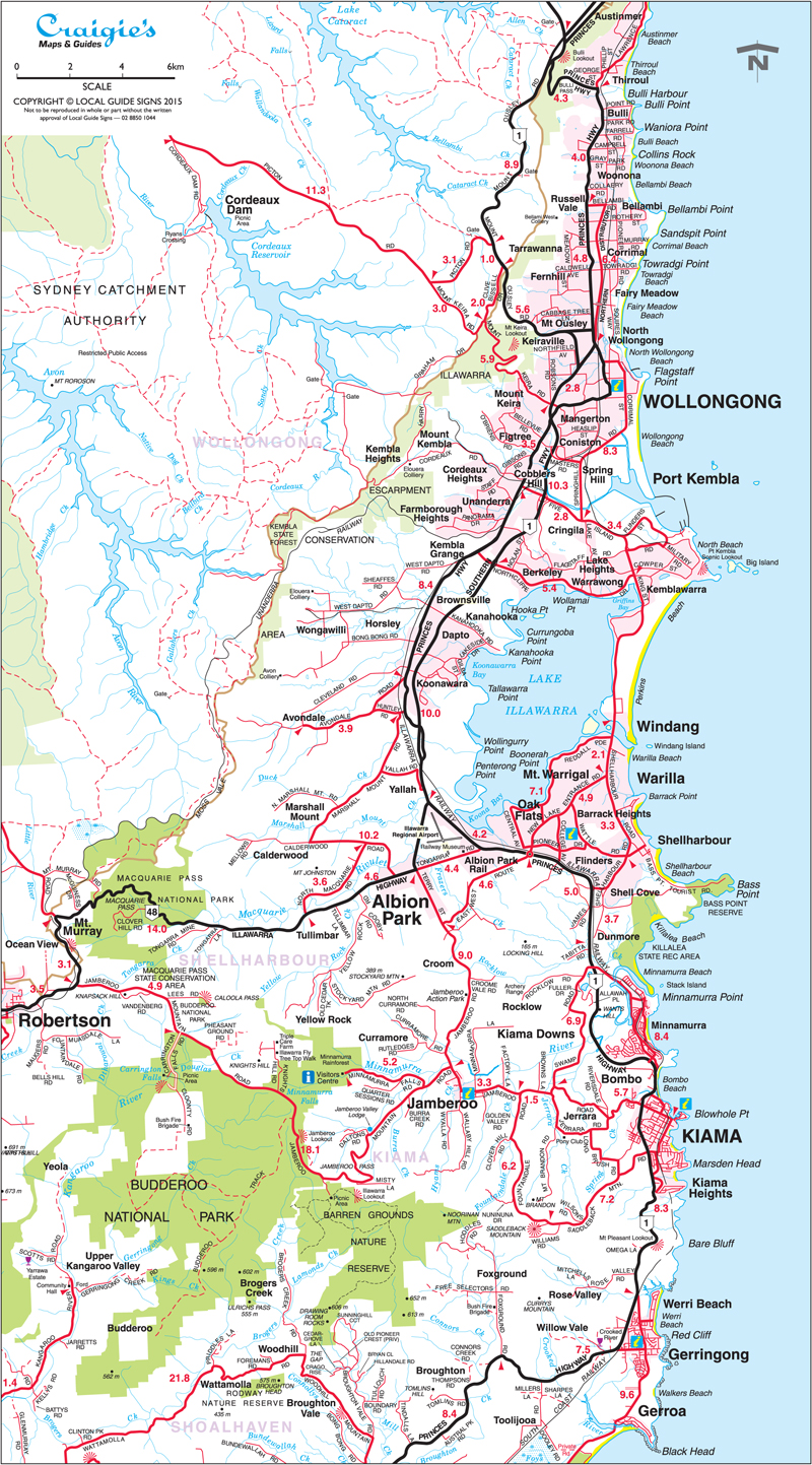 Shellharbour NSW South Coast Maps Street Directories Places
