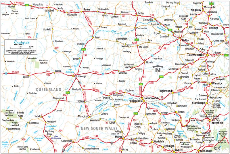 St George  Balonne Shire  Queensland  Maps  Street Directories