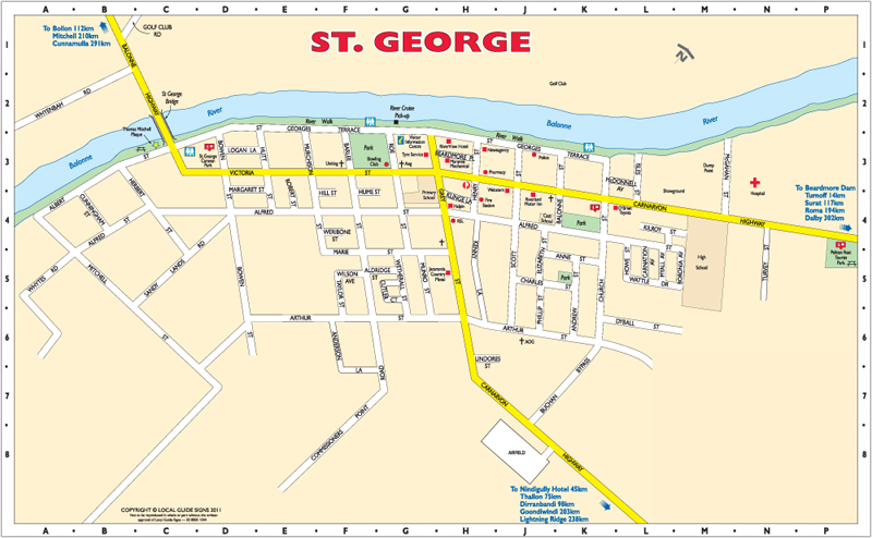 St George Balonne Shire Queensland Maps Street Directories