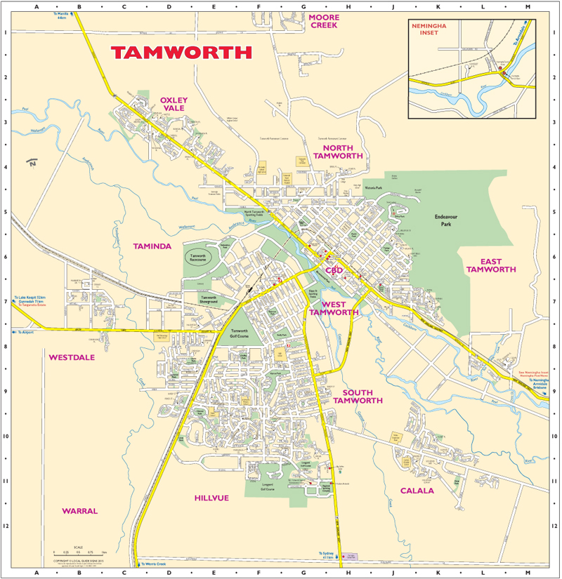 tamworth town map