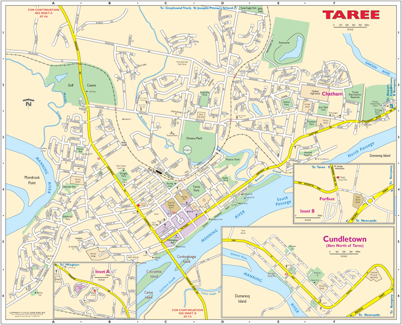 Taree Wingham Manning Valley Mid North Coast NSW Maps