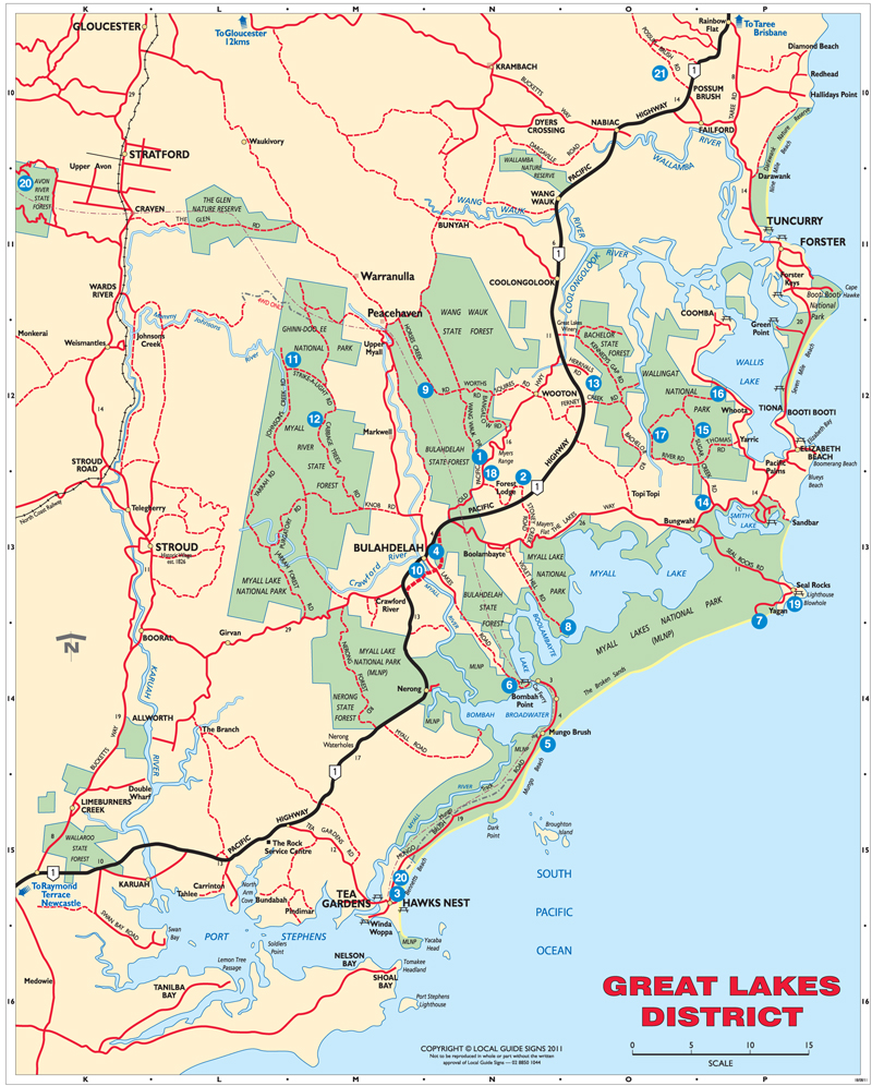 how to get t great lakes of nsw