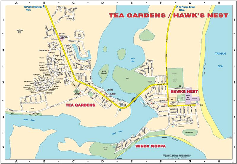 Tea Gardens Hawks Nest Bulahdelah Great Lakes Mid North
