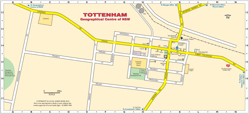 Tottenham - Central NSW - Maps - Street Directories - Places to Visit ...